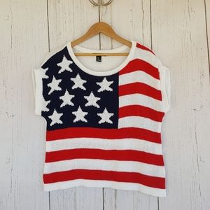 [Forever 21] American Flag Knit Sweater